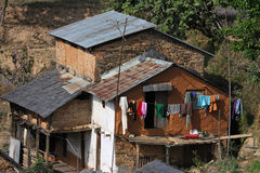 A farm in Bandipur. Bandipur, Nepal, is a hilltop settlement in Tanahu District. Because of its preserved, old time cultural atmosphere, Bandipur has Royalty Free Stock Photography