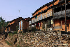 Farm in Bandipur. Bandipur is a hilltop settlement in Tanahu District of Nepal. Because of its preserved, old time cultural atmosphere, Bandipur has increasingly Royalty Free Stock Photography