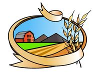 Farm banner icon Royalty Free Stock Images