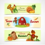 Farm banners set Royalty Free Stock Photo