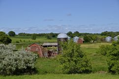 Farm barn in ruins Stock Photos