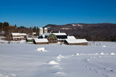 New Hampshire Farm in Winter Stock Image