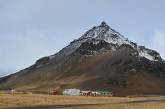 Farm at the Base of Mt Stapafell royalty free stock photos