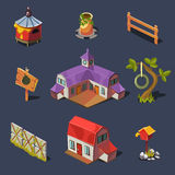 Farm Big Set of Design Elements in Modern Flat Royalty Free Stock Images