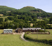 Farm black mountains wales uk Stock Image