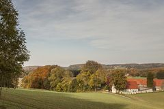 Farm in Borgloh, Osnabrueck country, Lower Saxony, Germany Royalty Free Stock Image