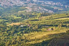 Farm in Brazil Minas Gerais montains royalty free stock image