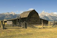 Farm Building. In the Grand Tetons, Oregon royalty free stock photo