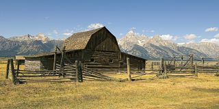 Farm Building. In the Grand Tetons, Oregon stock photography