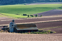 Farm building barn in landscape Royalty Free Stock Photo