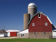 Farm building dairy barn Stock Photos