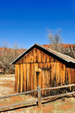 Farm building in desert Royalty Free Stock Photo