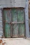 Farm building doors, Halki Royalty Free Stock Photos