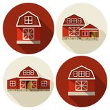 Farm Building Flat Royalty Free Stock Images