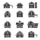 Farm building icon set Royalty Free Stock Photo