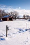 Farm Building in Winter Royalty Free Stock Images