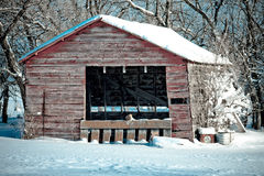 Farm Building in Winter Royalty Free Stock Image