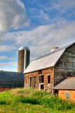 Farm Buildings. With Blue Sky and Green Grass royalty free stock photos