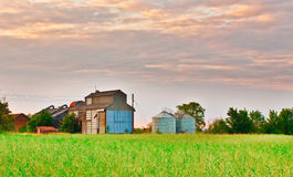 Farm buildings. In rural Suffolk, England in summer 2011 Royalty Free Stock Images