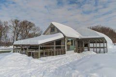 Farm buildings hen house Stock Images