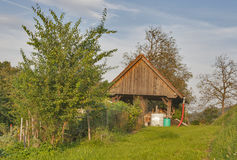 Farm buildings in the Slovenia Royalty Free Stock Photography