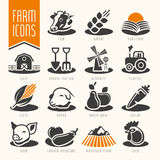 Farm and butcher shop icon set