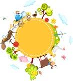Farm card vector illustration