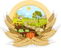 Farm card Royalty Free Stock Photos