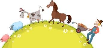 Farm card Royalty Free Stock Photos