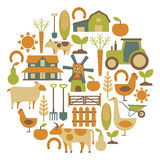 Farm card Royalty Free Stock Images