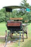 Farm carriage in the field Royalty Free Stock Photo