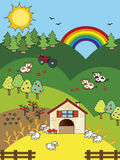 Farm cartoon vector illustration