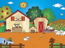 Farm cartoon. Illustration of a farm cartoon Stock Photos