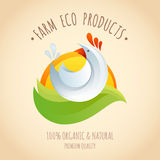 Farm chicken symbol icon Royalty Free Stock Photos