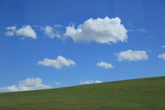 Farm and cloud. Farm in Inner Mongolia of china Stock Image