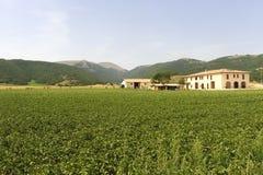 Farm at Colfiorito (Umbria) Stock Photo