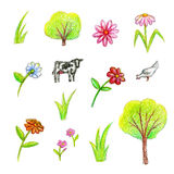 Farm collection Stock Images