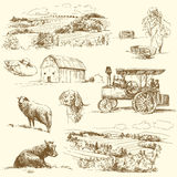 Farm collection Stock Image
