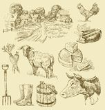 Farm collection-handmade drawing stock illustration