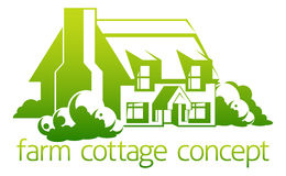 Farm cottage design Royalty Free Stock Photo