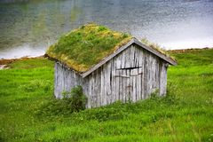 Farm cottage in Norway. A photo of an old farm cottage north of the Polar Circle in Norway Stock Images