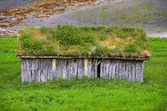 Farm cottage - Norway. A photo of an old farm cottage north of the Polar Circle in Norway Stock Images
