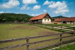 Farm on country Stock Photos