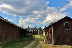 Farm in the country Stock Photography