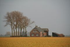 Farm at the countryside in spring. Stock Image