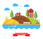Farm countryside vector background Royalty Free Stock Photos