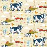 Farm cows seamless pattern. Cows on a farm background seamless pattern Royalty Free Stock Photography