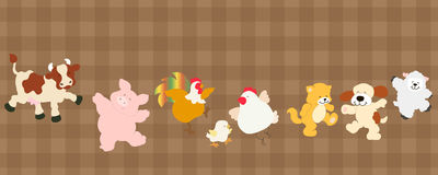 Farm critters set Royalty Free Stock Images