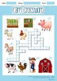 A Farm crossword concept. Illustration royalty free illustration