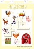 A farm crossword sheet royalty free illustration